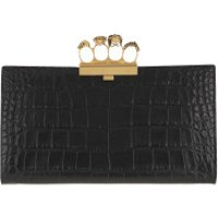 Alexander McQueen Clutch Clutch Leather Black - in schwarz - Abendtasche für Damen