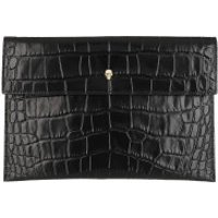 Alexander McQueen Clutch Envelope Clutch Leather Black - in schwarz - Abendtasche für Damen