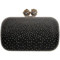 Alexander McQueen Clutch Skull Closure Clutch Black - in schwarz - Abendtasche für Damen