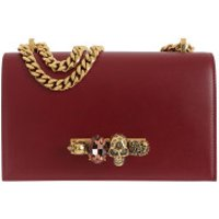 Alexander McQueen Crossbody Bags Jewelled Satchel Bag Dark Rose - in pink - Umhängetasche für Damen