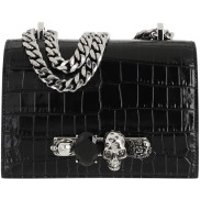Alexander McQueen Crossbody Bags Jewelled Satchel Leather Black - in schwarz - Umhängetasche für Damen