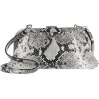Balenciaga Crossbody Bags Cloud XS Clutch With Strap Python Print Black/White - in weiß - Umhängetasche für Damen