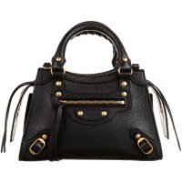 Balenciaga Crossbody Bags Neo Classic Mini Top Handle Bag Grained Calfskin Black - in schwarz - Umhängetasche für Damen