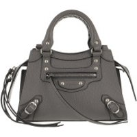 Balenciaga Crossbody Bags Neo Classic Mini Top Handle Bag Grained Calfskin Dark Grey - in grau - Umhängetasche für Damen