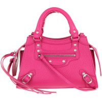 Balenciaga Crossbody Bags Neo Classic Mini Top Handle Bag Grained Calfskin Fuchsia - in pink - Umhängetasche für Damen