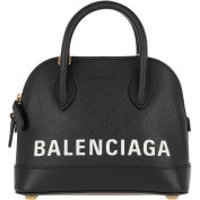 Balenciaga Crossbody Bags Ville Quilted Top Handle Bag XXS Leather Black/White - in schwarz - Umhängetasche für Damen