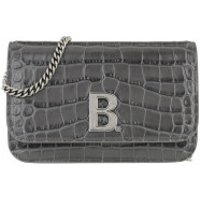 Balenciaga Crossbody Bags Wallet On Chain Shiny Embossed Croc Grey - in grau - Umhängetasche für Damen