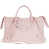 Balenciaga Handtaschen City Tote Tassel Studded Leather Light Rose - in rosa - Henkeltasche für Damen