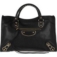 Balenciaga Handtaschen Metallic Edge Classic City Bag Leather Black - in schwarz - Henkeltasche für Damen