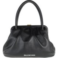 Balenciaga Handtaschen Small Cloud Bag Grained Calf Leather Black - in schwarz - Henkeltasche für Damen