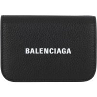 Balenciaga Wallet Cash Mini Wallet Black/White - in schwarz - Portemonnaie für Damen