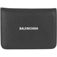 Balenciaga Wallet Logo Leather Wallet Black - in schwarz - Portemonnaie für Damen
