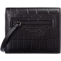 Balenciaga Wallet Neo Classic Flap Coin And Card Case Leather Black - in schwarz - Portemonnaie für Damen