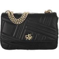 DKNY Crossbody Bags Alice Medium Flap Should Blk/Gold - in schwarz - Umhängetasche für Damen