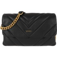 DKNY Crossbody Bags Vivian Double Small Crossbody Blk/Gold - in schwarz - Umhängetasche für Damen