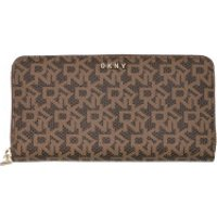 DKNY Wallet Bryant New Zip Around Wallet Mocha/Caramel - in braun - Portemonnaie für Damen