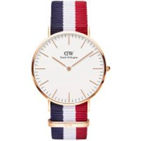 Daniel Wellington  Classic Cambridge 40 mm Blue White Red - in bunt - Armbanduhr für Damen
