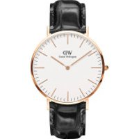 Daniel Wellington  Classic Reading Black - in schwarz - Armbanduhr für Damen