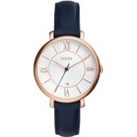 Fossil  Jacqueline Watch Leather Navy - in blau - Armbanduhr für Damen
