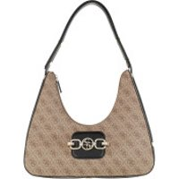 Guess Crossbody Bags Hensely Hobo Bag Latte Multicolor - in braun - Umhängetasche für Damen