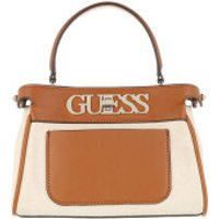 Guess Crossbody Bags Uptown Chic Large Satchel Bag Cognac - in beige - Umhängetasche für Damen