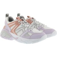 Guess Turnschuhe Marlia Active Lady Leather Sneaker White/Soft Lilac/Coral - in bunt - Sneakers für Damen