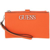 Guess Wallet Uptown Chic Double Zip Wallet Orange - in orange - Portemonnaie für Damen