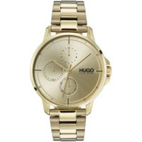 Hugo  Men Multifunctional Watch Focus Gold - in gold - Armbanduhr für Damen