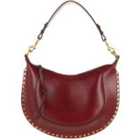 Isabel Marant Crossbody Bags Naoko Hobo Bag Leather Burgundy - in rot - Umhängetasche für Damen