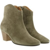 Isabel Marant Stiefel & Stiefeletten Dicker Ankle Boots Leather Taupe - in grün - für Damen