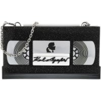 Karl Lagerfeld Clutch Video Tape Minaudiere Black - in schwarz - Abendtasche für Damen
