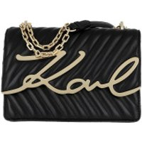 Karl Lagerfeld Crossbody Bags Signature Stitch Shoulderbag Black Gold - in schwarz - Umhängetasche für Damen