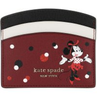Kate Spade New York Wallet Small Minnie Mouse Card Holder Red Multicolor - in rot - Portemonnaie für Damen