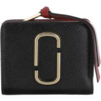 Marc Jacobs Wallet The Snapshot Mini Compact Wallet Black/Chianti - in schwarz - Portemonnaie für Damen