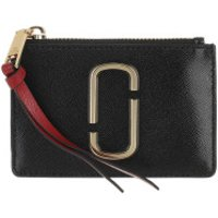Marc Jacobs Wallet The Snapshot Top Zip Wallet Leather Black/Chianti - in schwarz - Portemonnaie für Damen