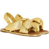 Miu Miu  Sandals Leather Gold - in gold - Sandalen für Damen
