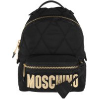 Moschino Crossbody Bags Quilted Zip Backpack Fantasy Print Black - in schwarz - Umhängetasche für Damen