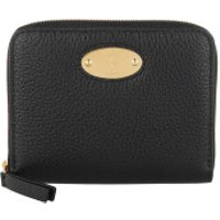 Mulberry Wallet Plaque Small Zip Around Wallet Black - in schwarz - Portemonnaie für Damen