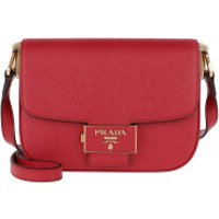 Prada Crossbody Bags Emblème Shoulder Bag Leather Fuoco - in rot - Umhängetasche für Damen