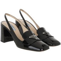 Prada High Heels Slingback Pumps Leather Black - in schwarz - für Damen