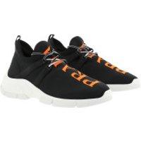 Prada Turnschuhe Calzino Sneakers Black Fluorescent Orange - in schwarz - für Damen