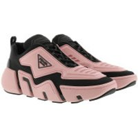 Prada Turnschuhe Technical Fabric Sneakers Black Pink - in rosa - für Damen