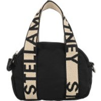Stella McCartney Crossbody Bags Logo Mini Boston Bag Black - in schwarz - Umhängetasche für Damen