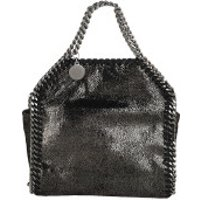 Stella McCartney Crossbody Bags Tiny Falabella Shaggy Deer Ruthenium - in schwarz - Umhängetasche für Damen