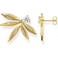 Thomas Sabo  Ear Studs Leaves Gold - in yellow gold - Armbanduhr für Damen