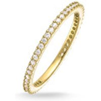 Thomas Sabo  Eternityring Pavé Gold - in gold - Armbanduhr für Damen