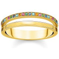 Thomas Sabo  Ring Colored Stones Bicolor - in yellow gold - Armbanduhr für Damen