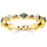 Thomas Sabo  Ring Colored Stones Gold - in gold - Armbanduhr für Damen