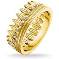 Thomas Sabo  Ring Crown Leaves Gold - in yellow gold - Armbanduhr für Damen