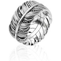 Thomas Sabo  Ring Feather Pavé Silver/Black - in silber - Armbanduhr für Damen